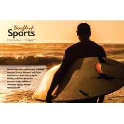 Sports Massage Benefits Poster