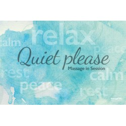 Massage Therapy Quiet Please Poster