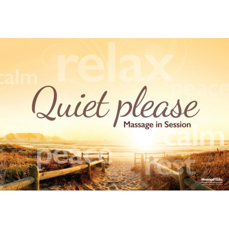 Massage Therapy Quiet Please Poster (2)