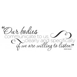 "Our Bodies Communicate Decal - 34"" x 12"""