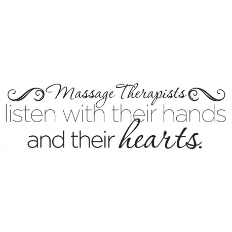 "Listen With Their Hands Decal - 30"" x 10"""