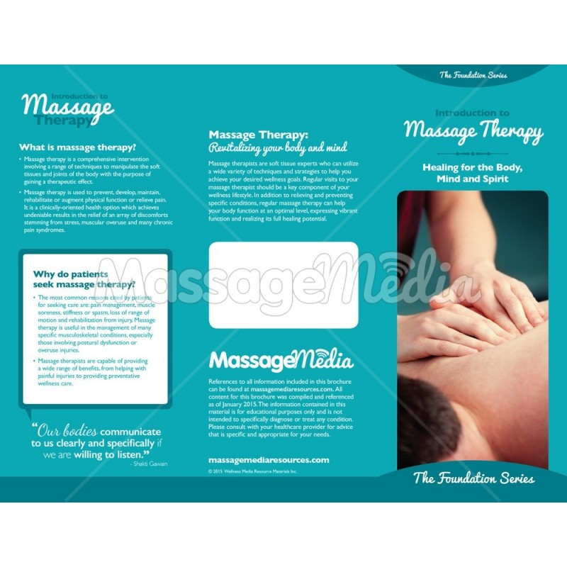 Introduction To Massage Brochure · Introduction To Massage Brochure ...