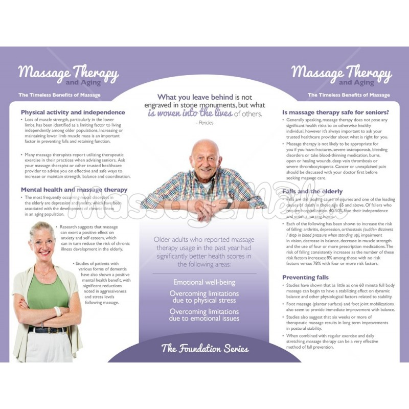 Massage Therapy Elderly Brochure