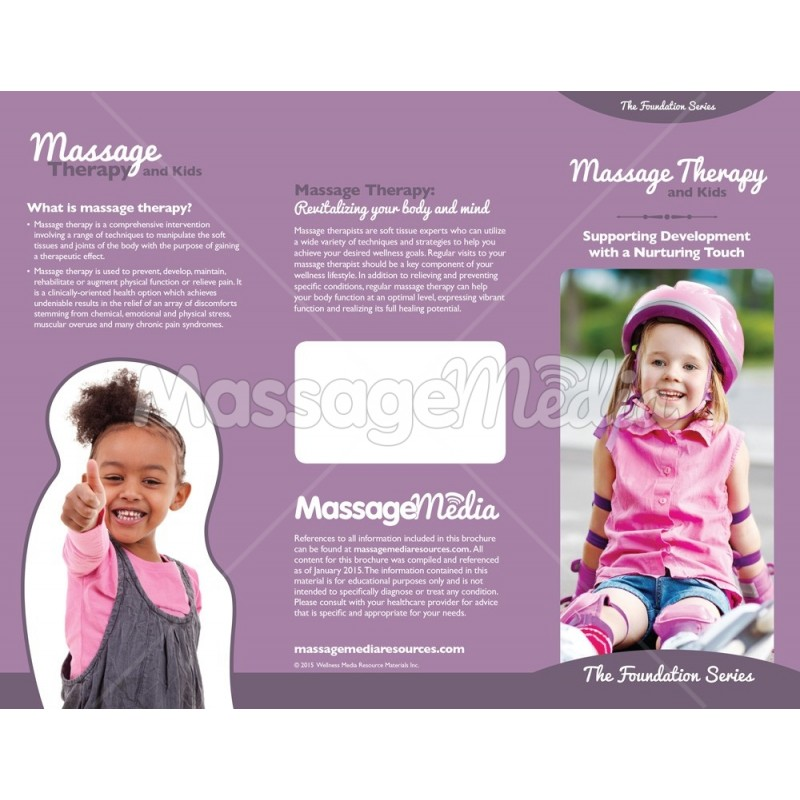 Massage Therapy Kids Brochure
