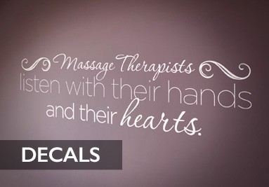 Massage Therapy Vinyl Decals